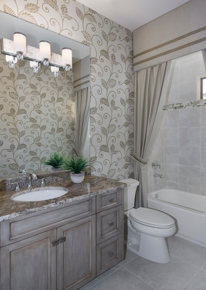Norris Furniture for a Mediterranean Bathroom with a Mediterranean and