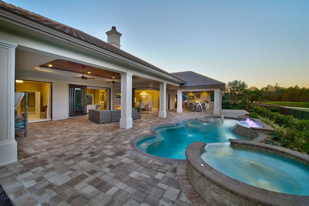 Norris Furniture for a Mediterranean Pool with a Mediterranean and