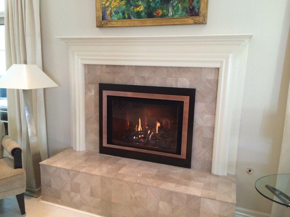 Northwest Metalcraft for a  Living Room with a Tile Hearth and Modern Fireplace by Northwest Metalcraft