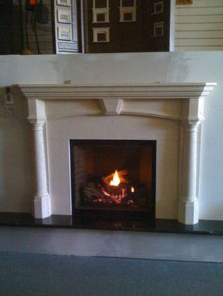 Northwest Metalcraft for a Traditional Living Room with a Pre Cast Surround and Traditional Fireplace by Northwest Metalcraft