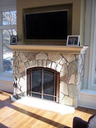 Northwest Metalcraft for a Traditional Living Room with a Tv Above Fireplace and Traditional Fireplace by Northwest Metalcraft