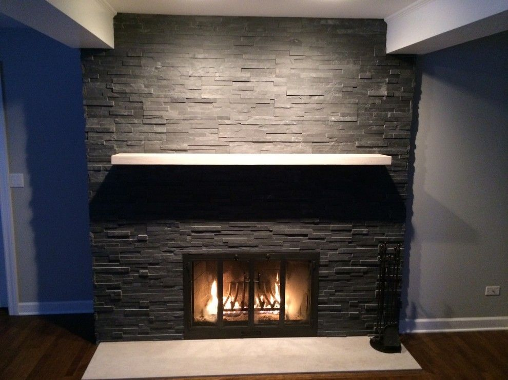 Northwest Metalcraft for a Transitional Spaces with a Bosse Glass Door and Modern Fireplace by Northwest Metalcraft