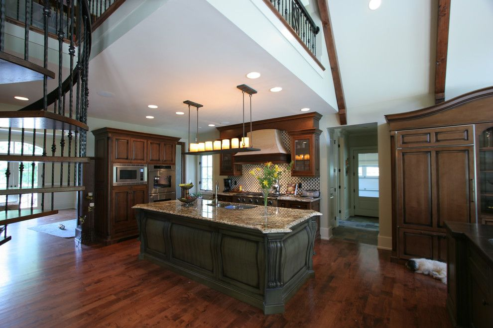 Norwood Furniture for a Traditional Kitchen with a Addition and French Country Renovation by Norwood Architects