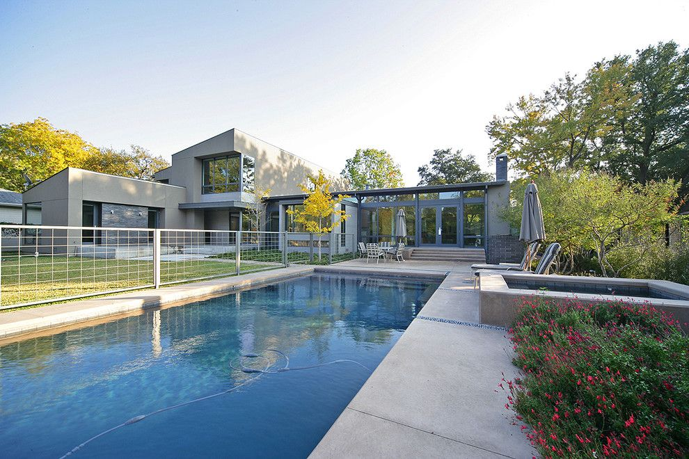 Nps Pool Supply for a Contemporary Pool with a Jacuzzi and Stefani House by Domiteaux + Baggett Architects, Pllc