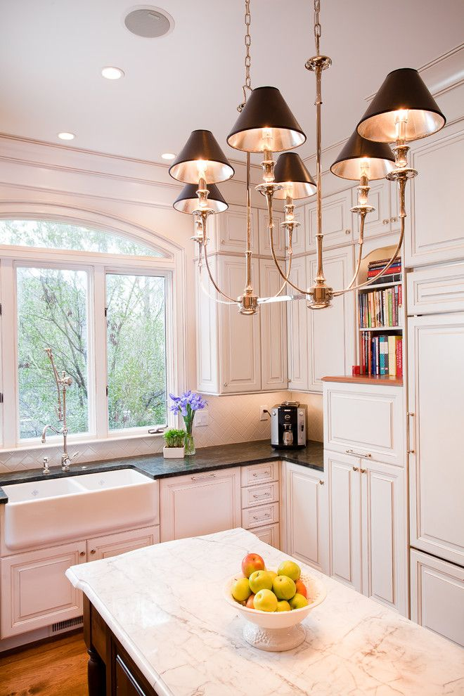 Nw Artisan Hardware for a Traditional Kitchen with a Stone Countertop and Kitchen + Bath Artisans by Kitchen + Bath Artisans
