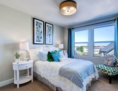 Oakwood Homes for a Transitional Bedroom with a White Nightstnad and the Volante by Oakwood Homes