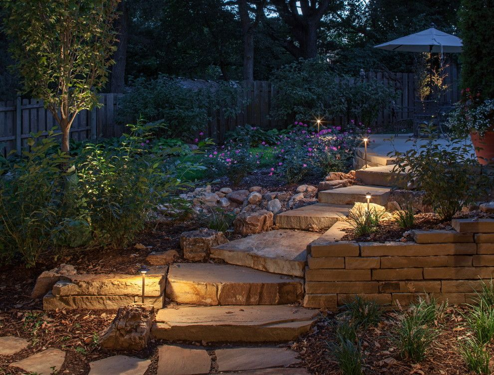 Oakwood Homes Omaha for a Traditional Landscape with a Bark Mulch and Private Residence by Andrew J Coleman