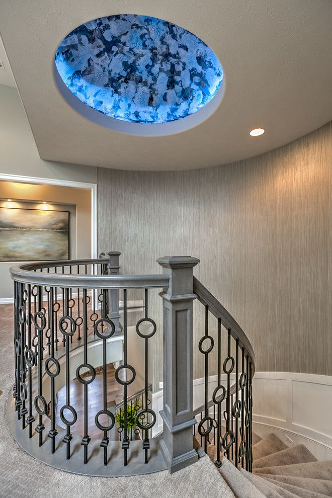 Oakwood Homes Omaha for a Transitional Staircase with a Dome and the Brandenburg by Landmark Performance Homes