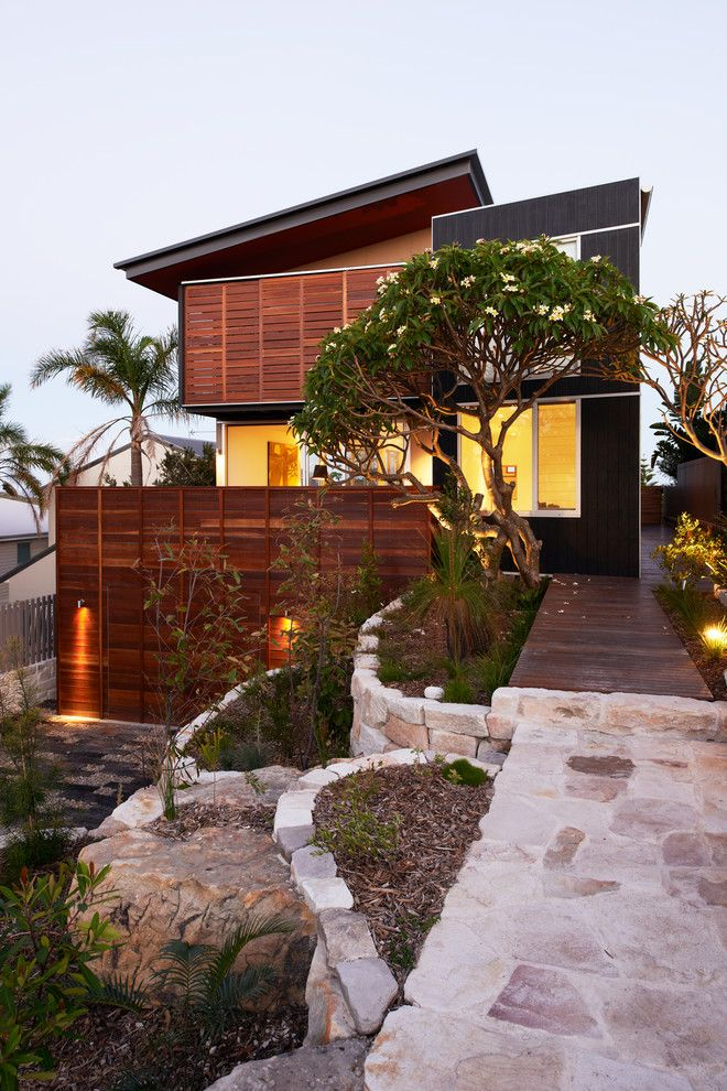 Ocean House Islamorada for a Contemporary Exterior with a Wood Garage Door and Seaview Beach House by Mackenzie Pronk Architects