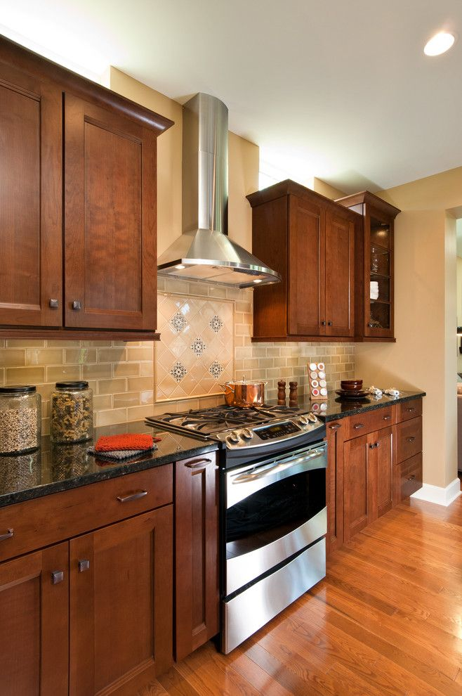 Oceanside Glass Tile for a Traditional Kitchen with a Harvest Bend and 2012 Saratoga Showcase Home by Belmonte Builders