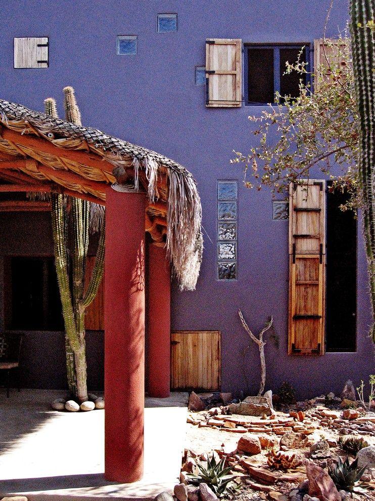 Ocher Color for a Tropical Patio with a Tropical and Casa De Buenas Almas by House + House Architects