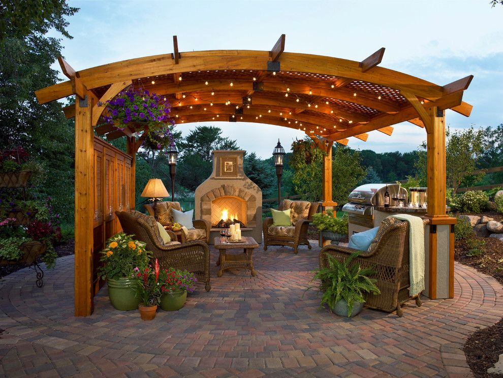 Oly Furniture for a Contemporary Spaces with a Gazebo and Sonoma Outdoor Room by the Outdoor Greatroom Company
