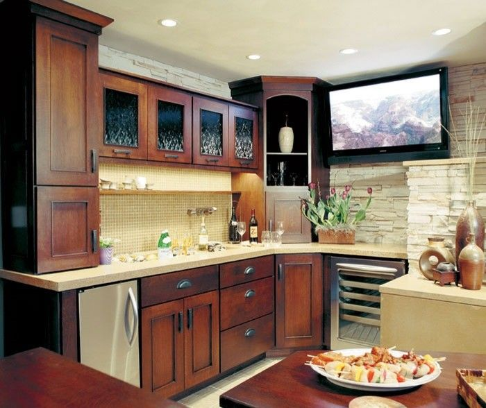 Omega Cabinetry For A Eclectic Kitchen With A Bar Area And Dynasty By Omega  Cabinetry By