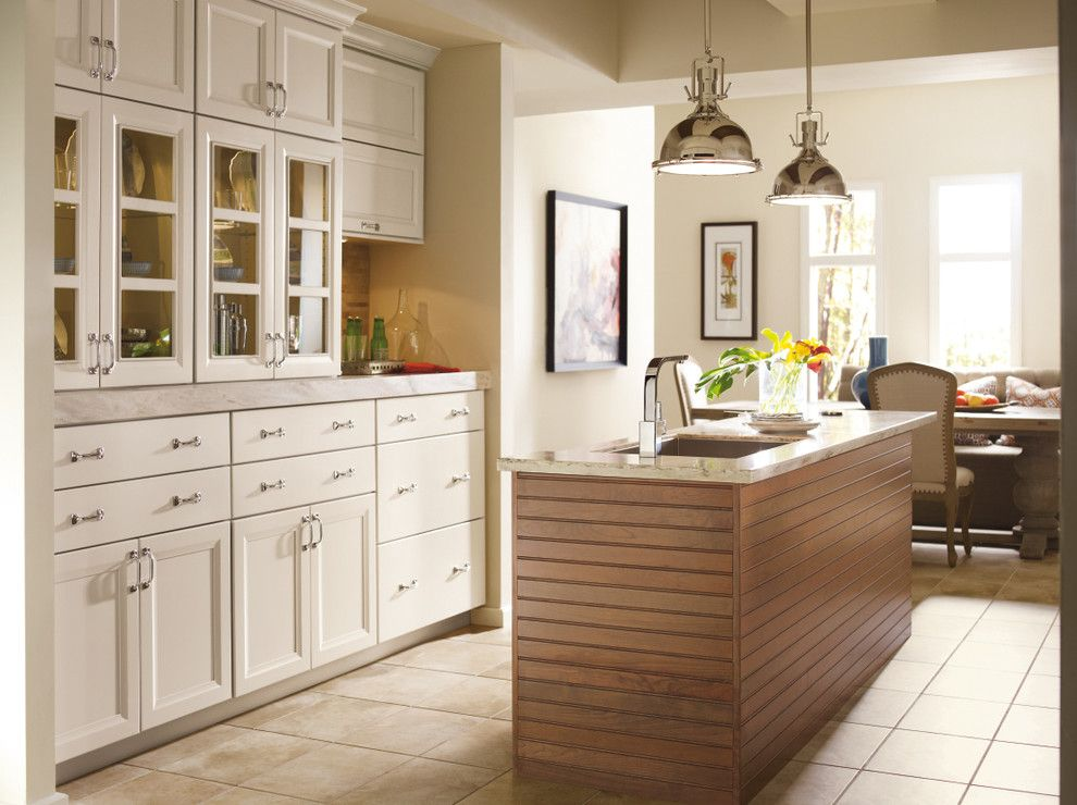 Omega Cabinets for a Modern Kitchen with a Dynasty Cabinetry and Omega White Kitchen Cabinets by Masterbrand Cabinets, Inc.