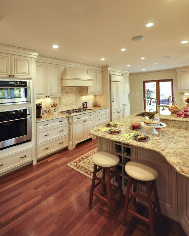 Omega cabinets for a traditional kitchen with a denise koczera and elegant french country kitchen by