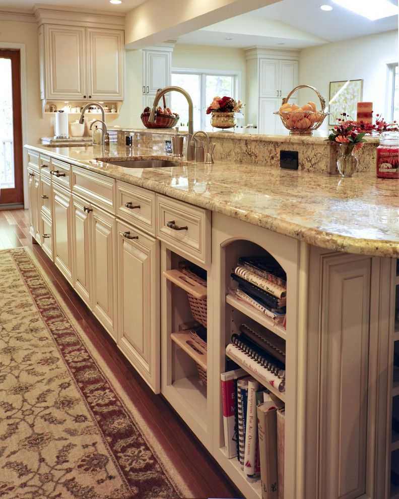 Omega Cabinets for a Traditional Kitchen with a Traditional and Elegant French Country Kitchen by Denise Koczera