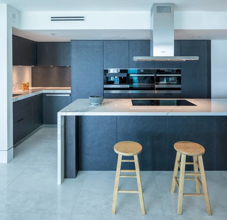 Omicron Granite for a Contemporary Kitchen with a Miami Beach and Luxury Miami Beach Project - Featuring NEOLITH and 2ID Interiors by Omicron Granite & Tile