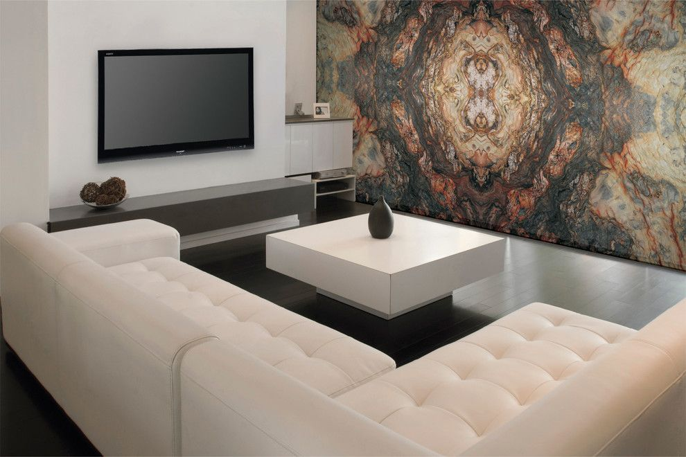 Omicron Granite for a Contemporary Living Room with a Contemporary and Fusion   Quartzite by Omicron Granite & Tile