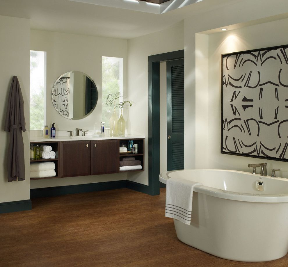 Opa Los Gatos for a Modern Bathroom with a Black Molding and Bathrooms by Kitchens of Los Gatos