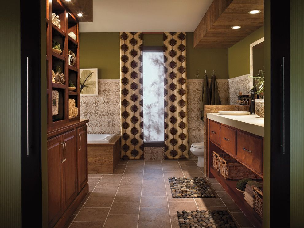 Opa Los Gatos for a Traditional Bathroom with a Green Towel and Bathrooms by Kitchens of Los Gatos