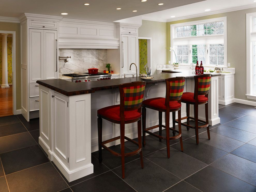 Opa Los Gatos for a Traditional Kitchen with a Yellow Wall and Kitchens by Kitchens of Los Gatos