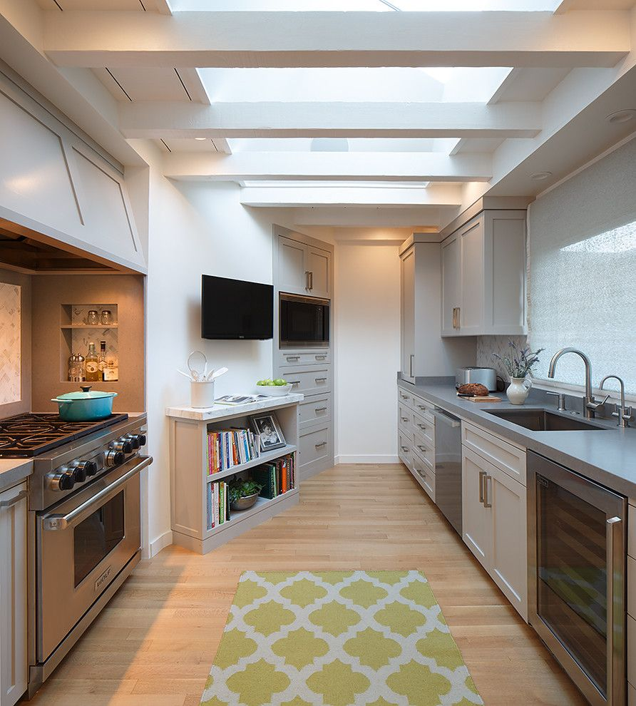 Opa Los Gatos for a Transitional Kitchen with a Tv and Recent Work by Ej Interior Design, Eugenia Jesberg