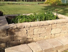 Orco Block for a Traditional Landscape with a Hardscape and Garden by ORCO Block & Hardscape