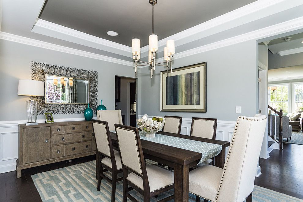 Orient Express Furniture for a Traditional Dining Room with a Rustic and M/I Homes of Raleigh: Overlook at Amberly - Hawthorne Model by M/I Homes