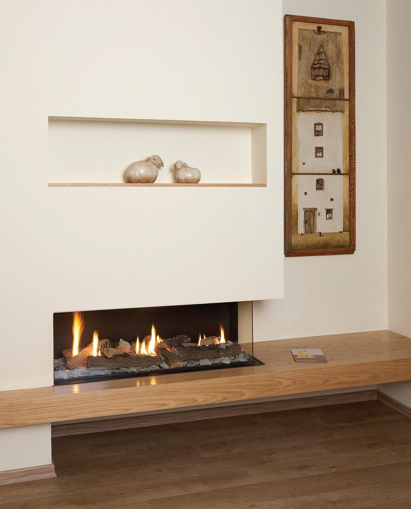 Ortal Fireplaces for a Contemporary Spaces with a Ortal Fireplace and Ortal Usa   Clear 110 Rs by Ortal Usa
