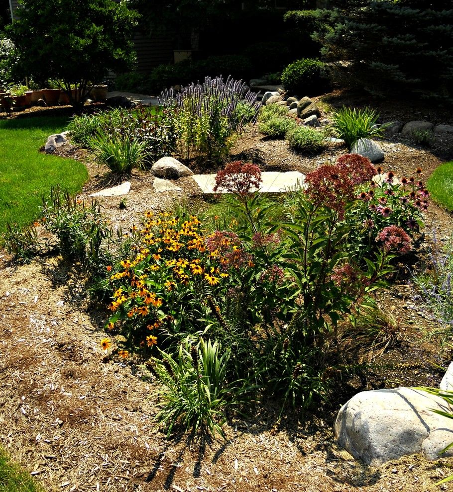 Osuna Nursery for a Traditional Landscape with a Mulch and Rain Gardens by Countryside Flower Shop and Nursery