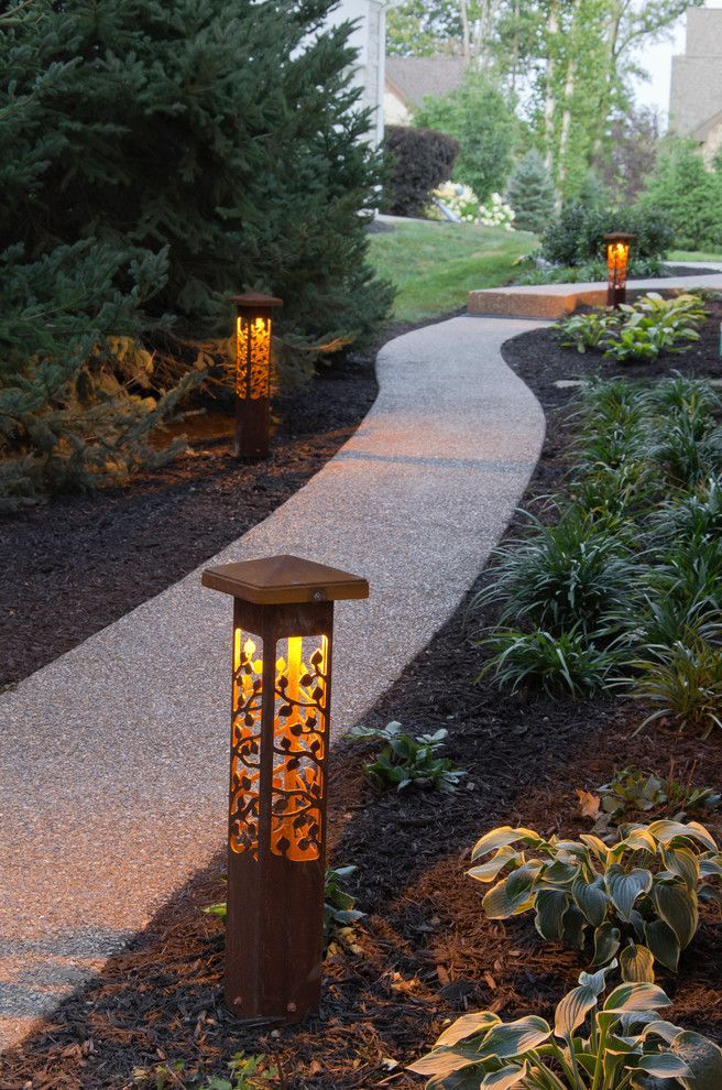 Outdoor Lighting Perspectives for a Contemporary Landscape with a Exterior Lights and *New* Outdoor Lighting Perspectives Sculpture Lights by Outdoor Lighting Perspectives of Chattanooga