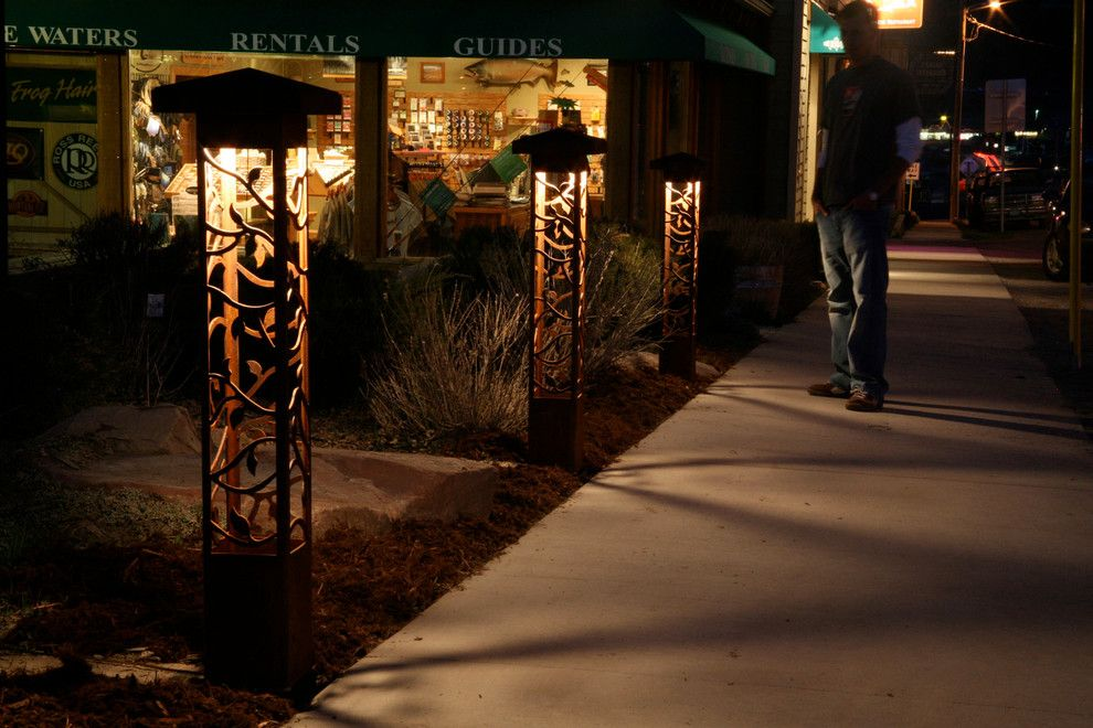 Outdoor Lighting Perspectives for a Contemporary Landscape with a Landscape Lighting and *New* Outdoor Lighting Perspectives Sculpture Lights by Outdoor Lighting Perspectives of Chattanooga