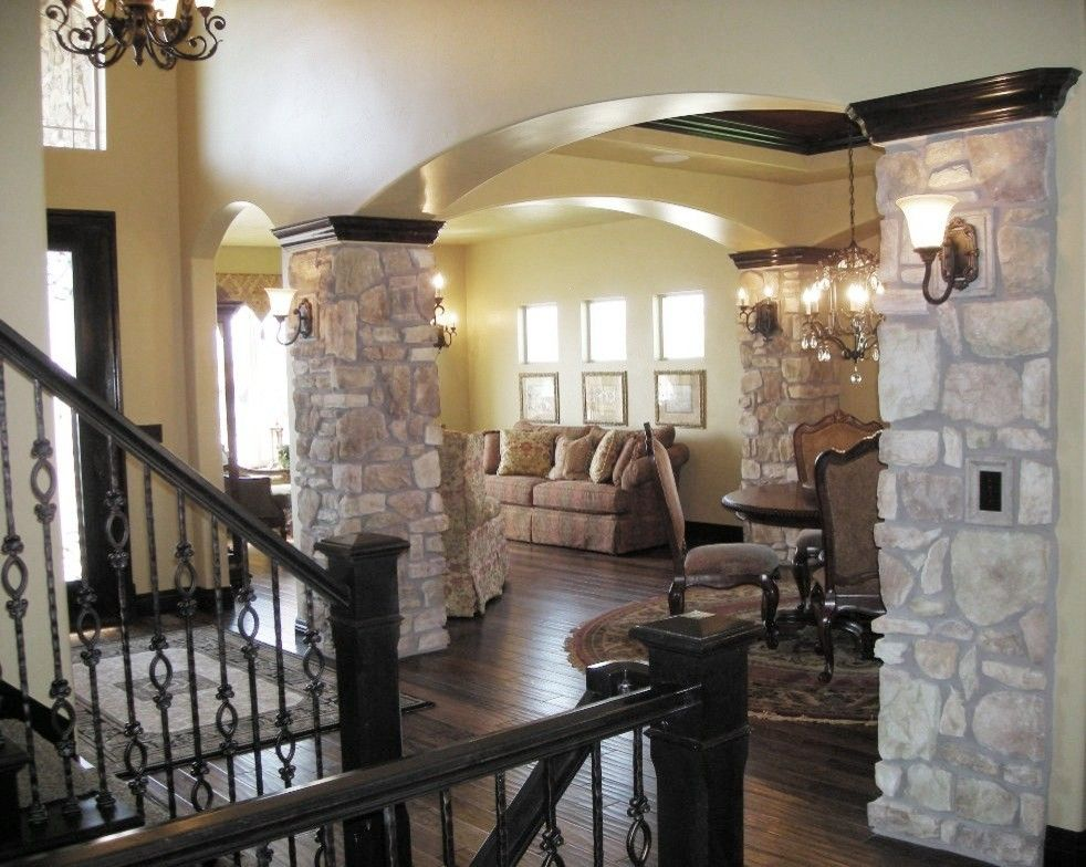 Owens Corning Cultured Stone for a Traditional Entry with a Traditional and Wasatch Parade by April Elizabeth