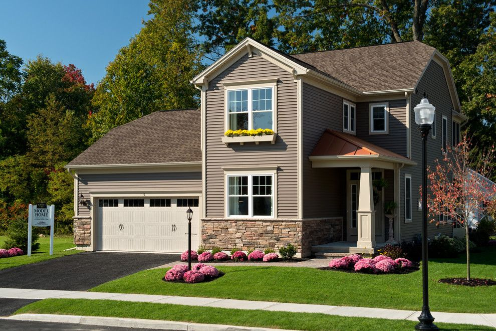 Owens Corning Cultured Stone for a Traditional Exterior with a Builders and 2013 Showcase of Homes by Belmonte Builders