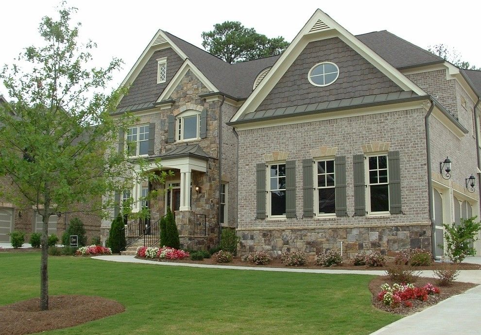 Owens Corning Cultured Stone for a Traditional Exterior with a French Influence and Chateau at Tree Lane by Dream with Jeannie