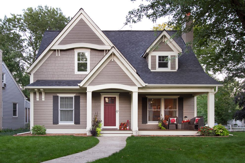 Owens Corning Roofing for a Traditional Exterior with a Beige Exterior and Minneapolis Cape Cod Renovation by Anchor Builders
