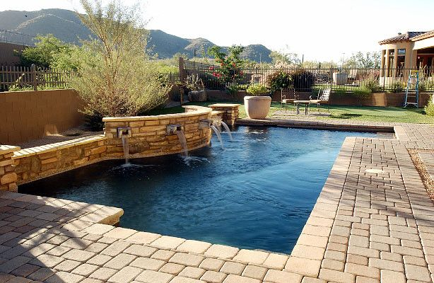 Paddock Pools for a  Spaces with a  and Geometric Pools by Paddock Pools, Patios & Spas