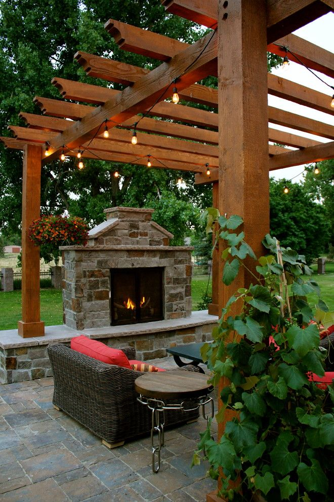 Padio for a Traditional Patio with a Backyard Retreat and Innovative Design by Innovative Design Co