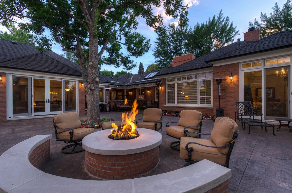 Padio for a Traditional Patio with a Fire Pit and Greenwood Village Residence by Craft Development