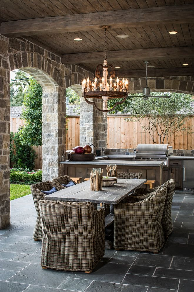 Padio for a Traditional Patio with a Outdoor Kitchen and Bordley 2 by Thompson Custom Homes