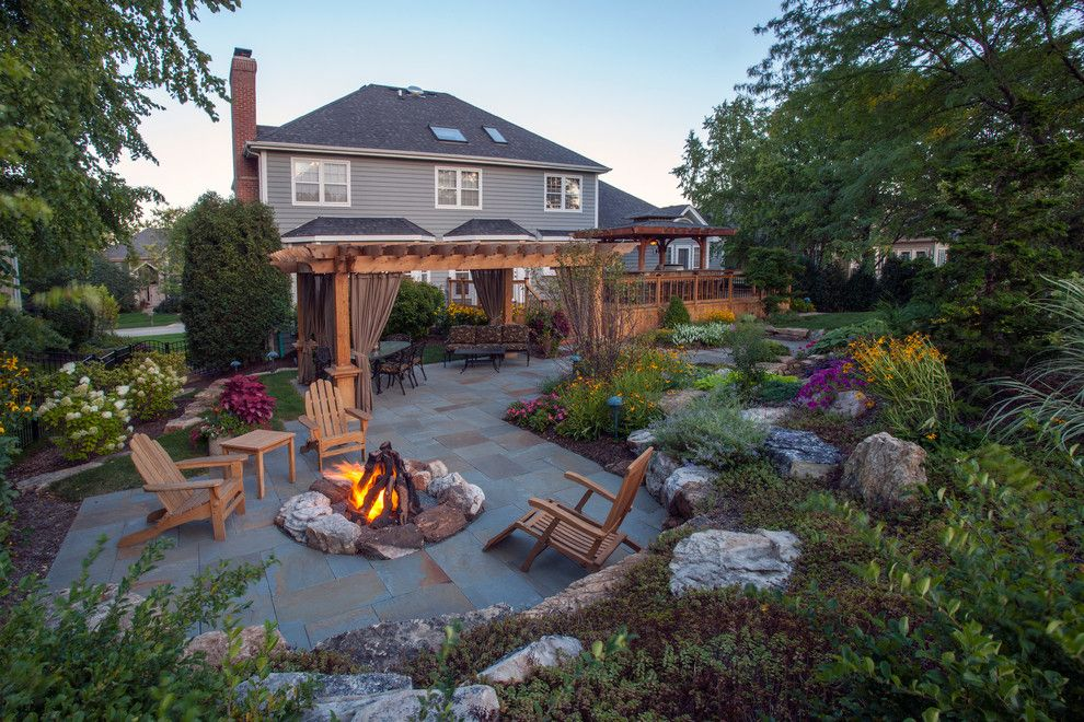 Padio for a Traditional Patio with a Patio Furniture and 7 Bridges Woodridge, Il by Rolling Landscapes Inc.