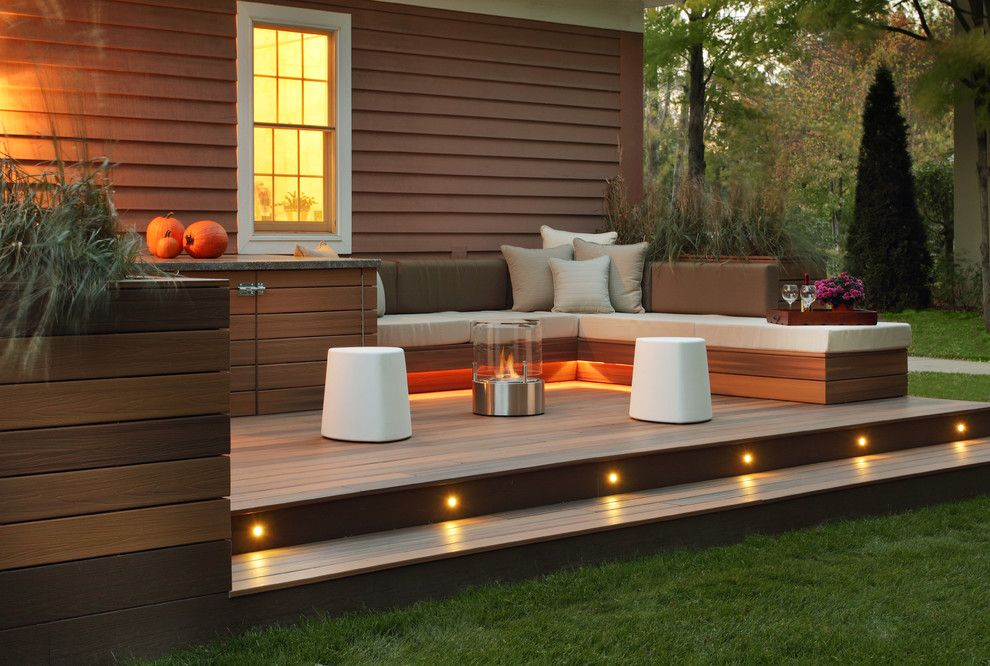Padio for a Transitional Patio with a Seat Cushions and Estate Residence by Karen Garlanger Designs, Llc