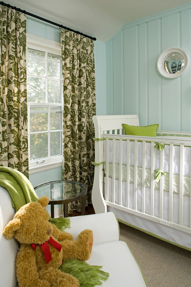 Painted Paneling for a Traditional Nursery with a Teddy Bear and Children's Rooms by Inview Interior Design