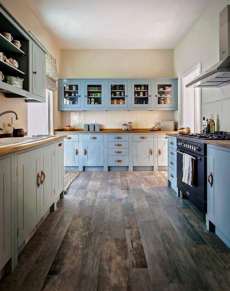 Painted Plywood Floors for a Traditional Kitchen with a Kitchen Worktop and Vernacular House Kitchen by British Standard by Plain English