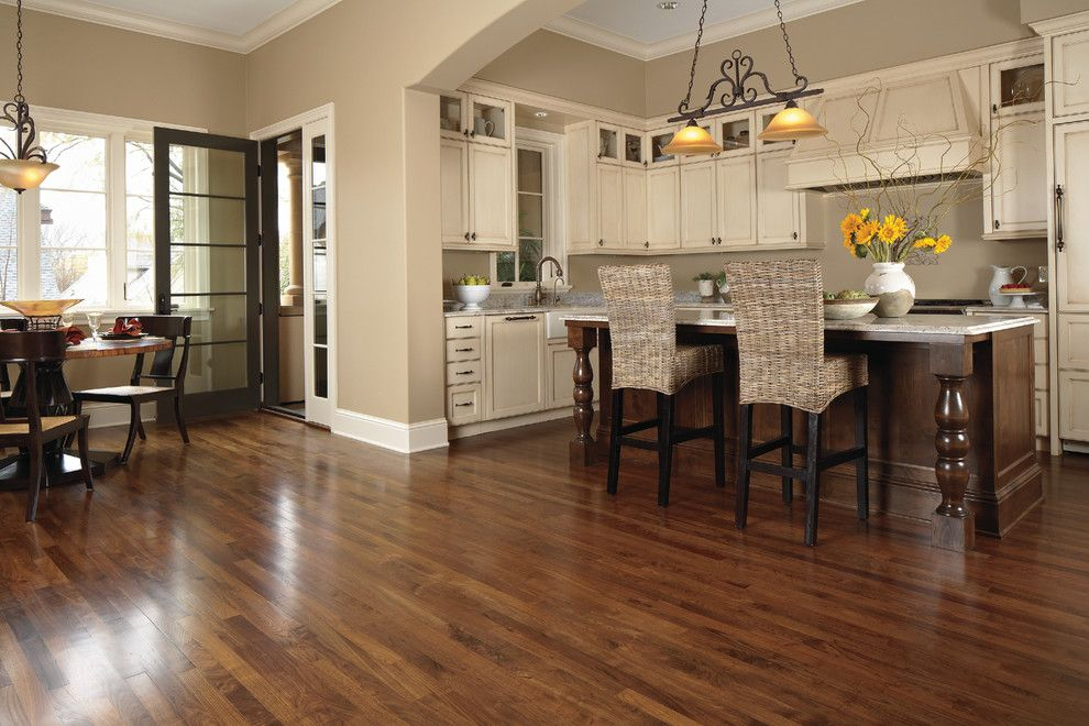 Painted Plywood Floors for a Transitional Kitchen with a Flooring and Kitchen by Carpet One Floor & Home