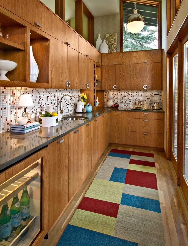Painting Oak Cabinets for a Midcentury Kitchen with a Pottery and Mid Century Butler's Pantry by Design by Lisa