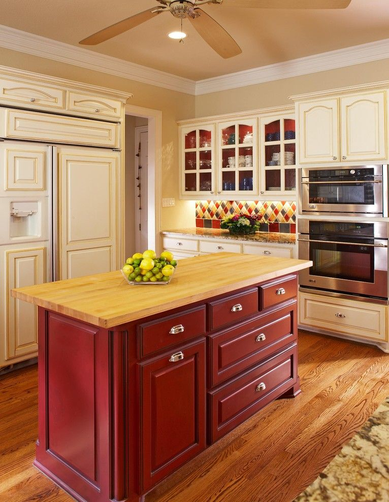 Painting Oak Cabinets for a Traditional Kitchen with a Southlake Tx and Southlake Tx Kitchen Designer by Usi Design & Remodeling