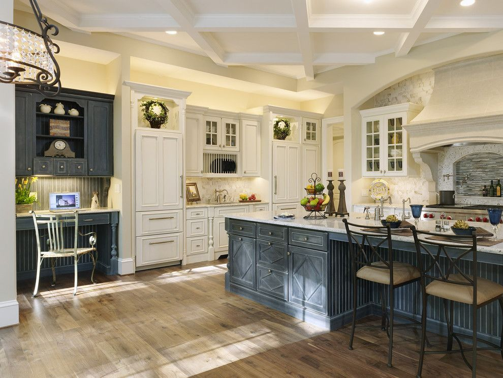 Painting Stripes on Walls for a Traditional Kitchen with a Gray Painted Wood and Rockville, Md Kitchen Renovation by Ferguson Bath, Kitchen & Lighting Gallery