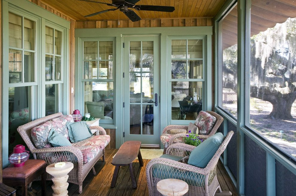 Painting Wicker Furniture for a Rustic Porch with a Windows and Stephanie's Cottage by Gerald D. Cowart, Aia, Leed  Ap