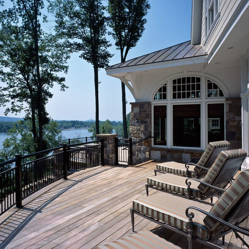 Painting Wicker Furniture for a Traditional Deck with a Deck and Extras by Belmonte Builders